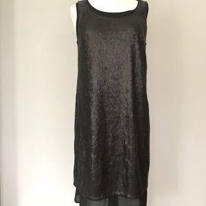 Elie Tahari Black Sleeveless Sequin Shift Dress 2
